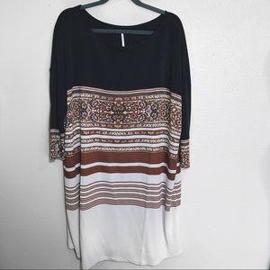 Free People - UO Stripe/Floral Tunic Dress Size M